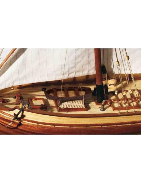 Barco Estatico de Epoca en Madera, Falucho SAN JUAN, fabricante Occre