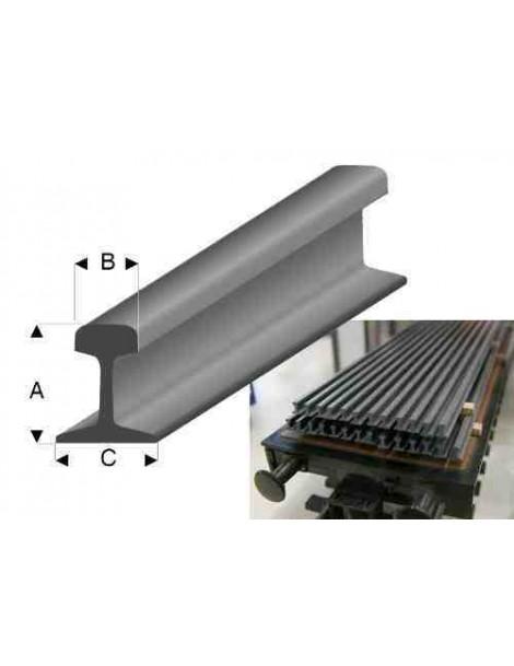 PERFIL Plastico RAIL 5,1 x 2,4 x 4,8 mm 1 unidad
