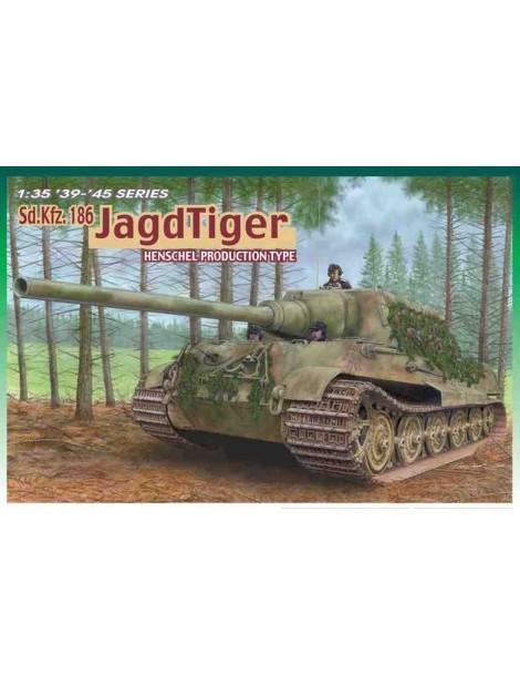 Tanque Estático de Plástico,  Sd.Kfz. 186 JAGDTIGER , Escala 1/35 fabricante Dragon