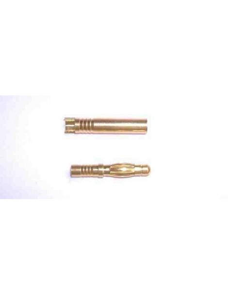 Conectores Oro 2 mm 1 pareja