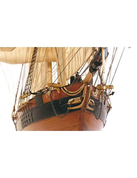 Barco Estatico de Epoca en Madera, GOLETA DOS AMIGOS, fabricante Occre