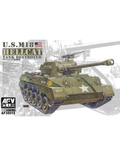 Tanque Estático de Plástico M18 HELLCAT, Escala 1/35 fabricante AFV Club