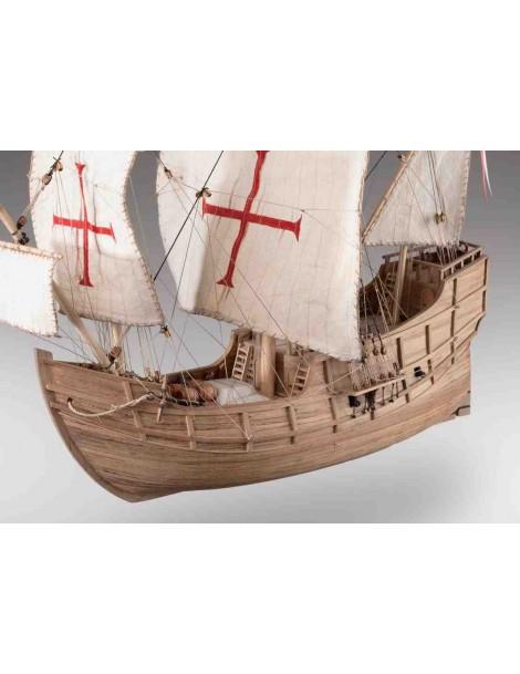 Barco Estático de Época en Madera, CARABELA STA. MARIA 1492 , Escala 1/72 + LIBRO