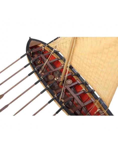 Barco Estático de Época en Madera, LE Bucentauro Bote del Almirante Villeneuve, fabricante Disarmode