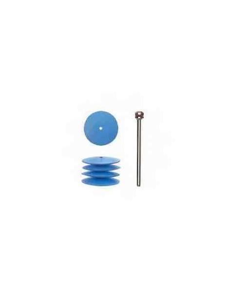 PULIDORES DE SILICONA CON COMPOSITE DE PLASTICO, 22 mm.