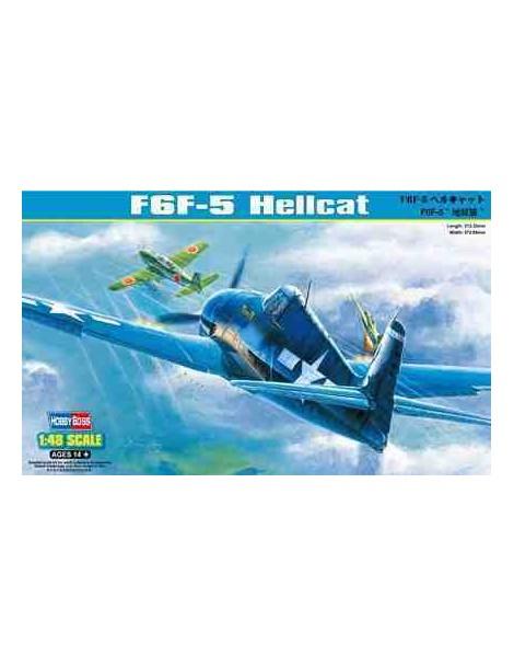 Avión Estático de Plástico, F6F-5 HELLCAT Escala 1/48