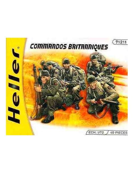 COMANDOS BRITANICOS , Escala , Escala 1/72  fabricante Heller  fabricante Heller