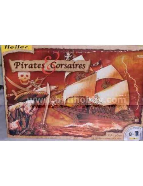 Barco Estático de Época de Plástico, PIRATAS y CORSARIOS, fabricante Heller. Modelismo Barcos Estáticos. Bilti Hobby.