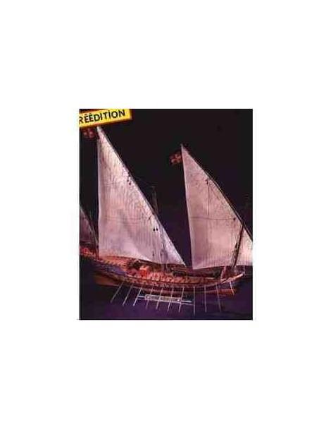 Barco Estático de Época de Plástico, LE CHEBEC 1/50 1005 mm, fabricante Heller