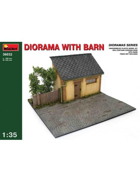 DIORAMA WITH BARN 1/35