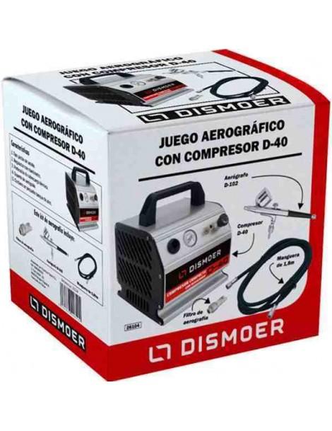COMPRESOR + AEROGRAFO D-102 + FILTRO + MANGUERA