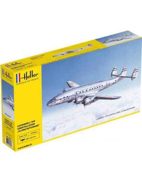 Avión Estático de Plástico, LOCKHEED L-749 CONSTELLATION , Escala 1/72  fabricante Heller