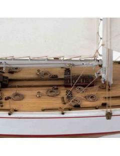 Barco Estático de Época en Madera, RAINBOW 1:80 - COPA AMERICA (con utensilios), fabricante Amati