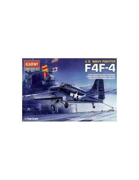 Avión Estático de Plástico, GRUMMAN F4F-4 , Escala 1/72  fabricante Academy
