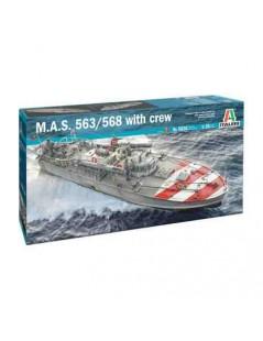 Torpedera ITALIANA M.A.S. 563/568 con tripulación 1/35