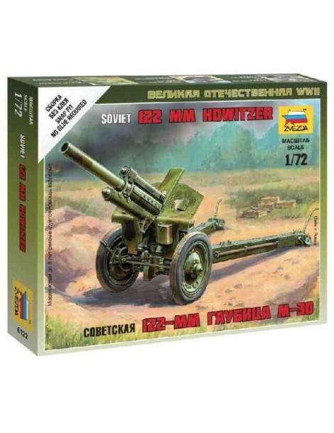 Cañon 122mm M-30 SOVIETICO y ARTILLEROS