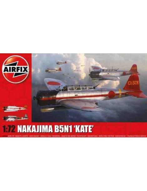 "Avión Estático de Plástico, NAKAJIMA B5N1 ""KATE"", escala 1/72  fabricante Airfix"